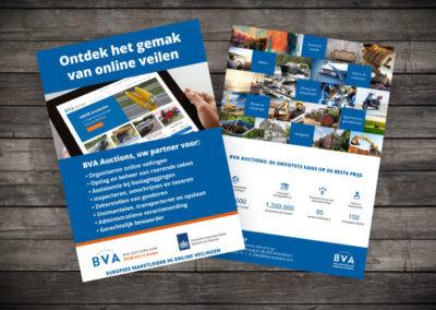 A5 flyer ontwerp BVA-Auctions.com