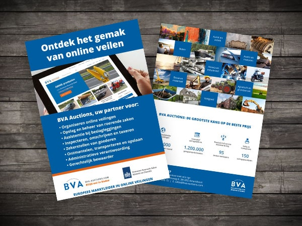 A5 flyer ontwerp BVA-Auctions.com