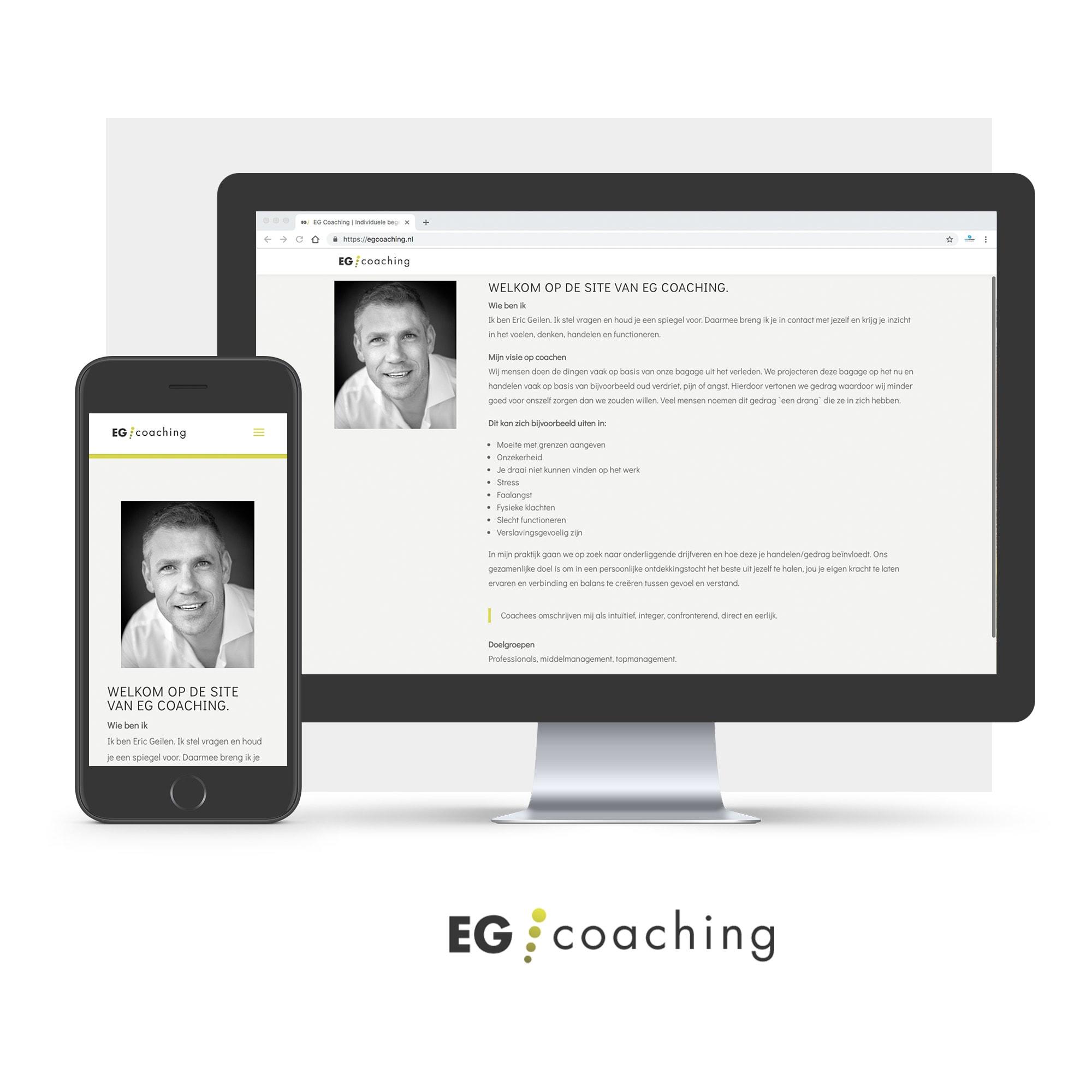 Mockup website EGcoaching
