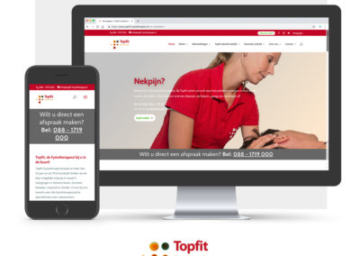 Website Topfit Fysiotherapie