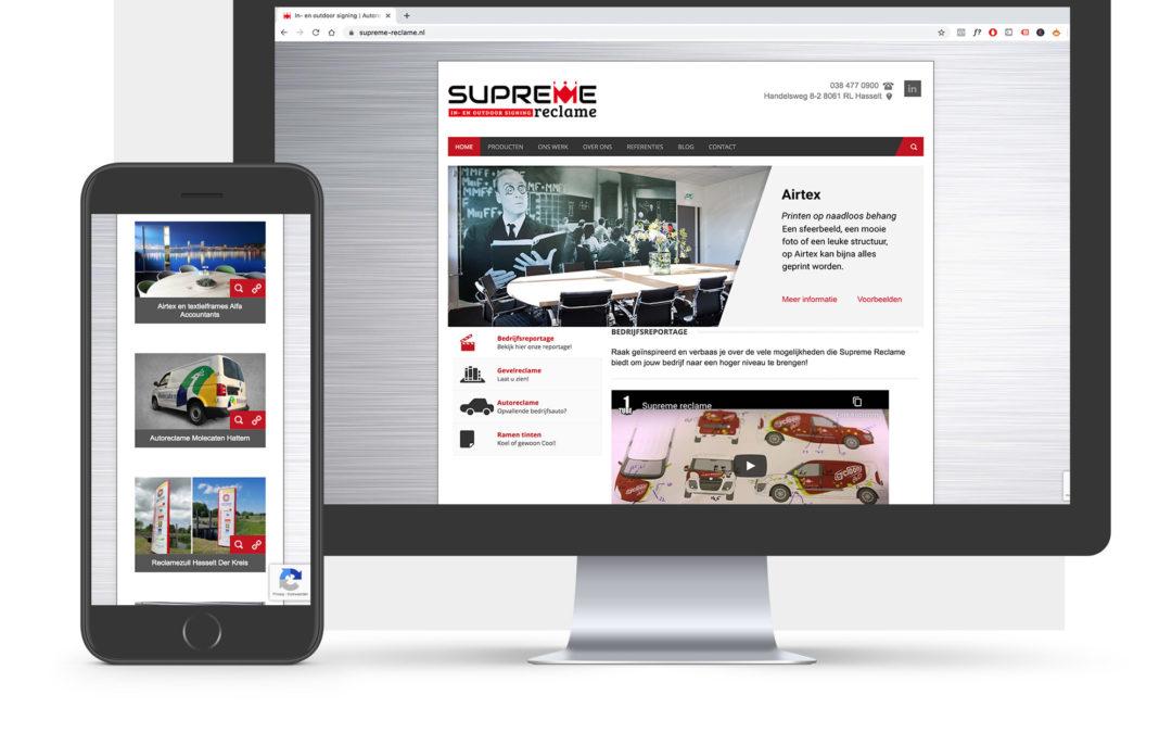 Website Supreme Reclame