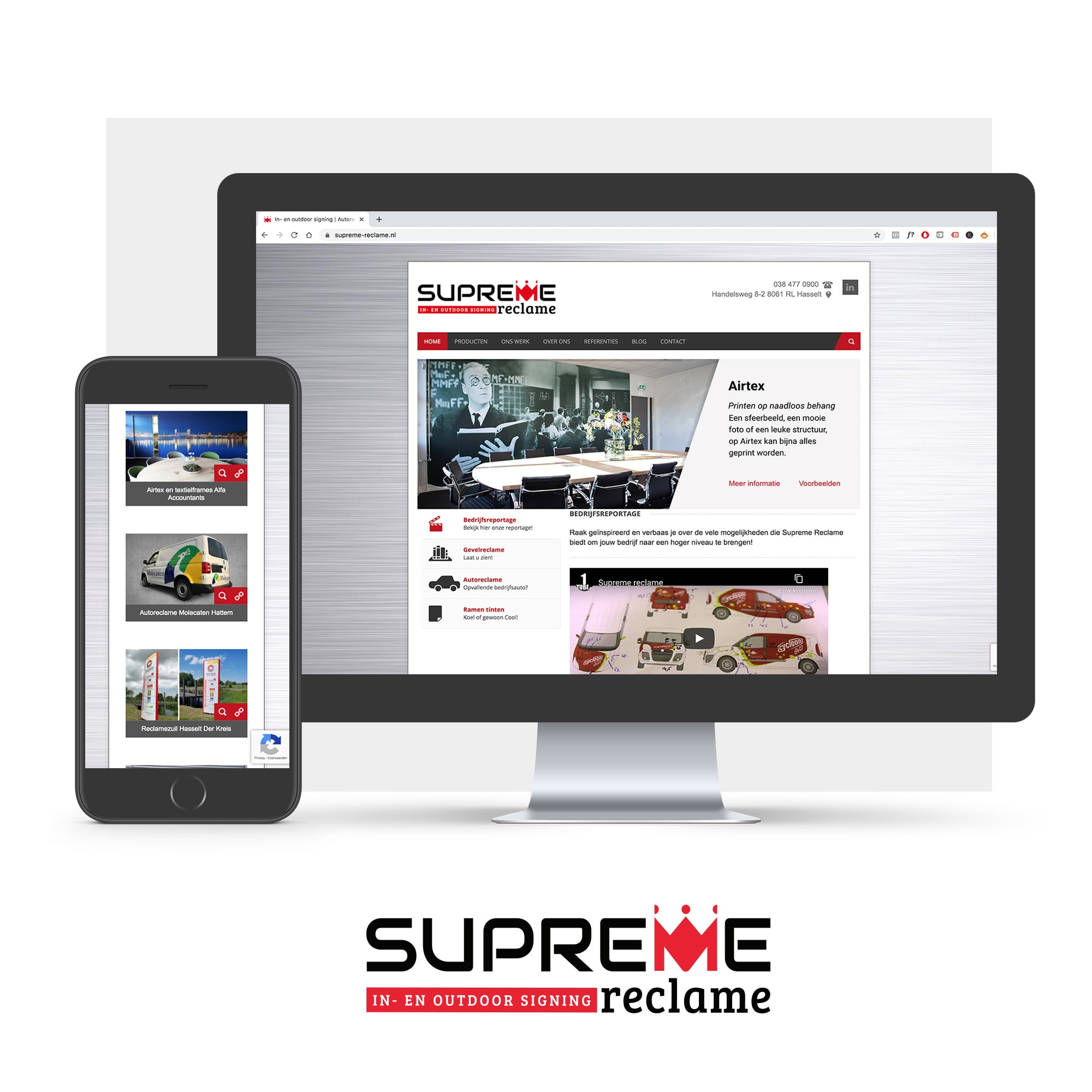 Wordpress website supreme-reclame