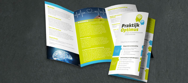 brochures maken drieluik